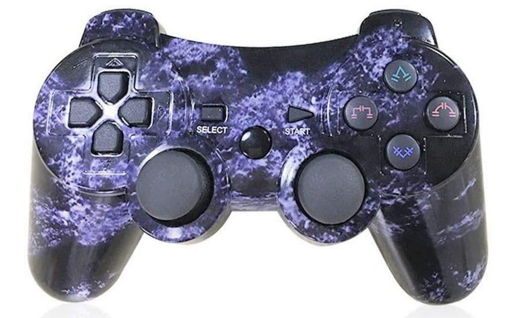 Mando PS3 Inalámbrico azul manchas