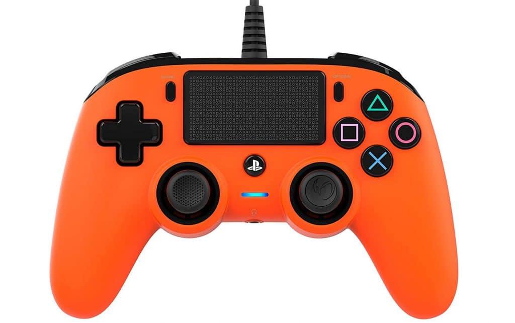 Nacon Compact Controller Wired para PS4 Naranja