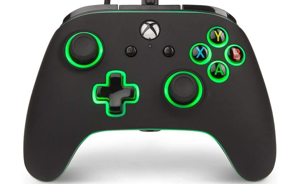 mando xbox one dorado mejorado negro verde